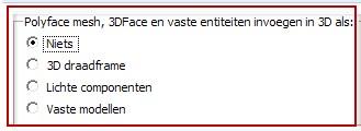 Mogelijkheden om DXF bestanden te importeren